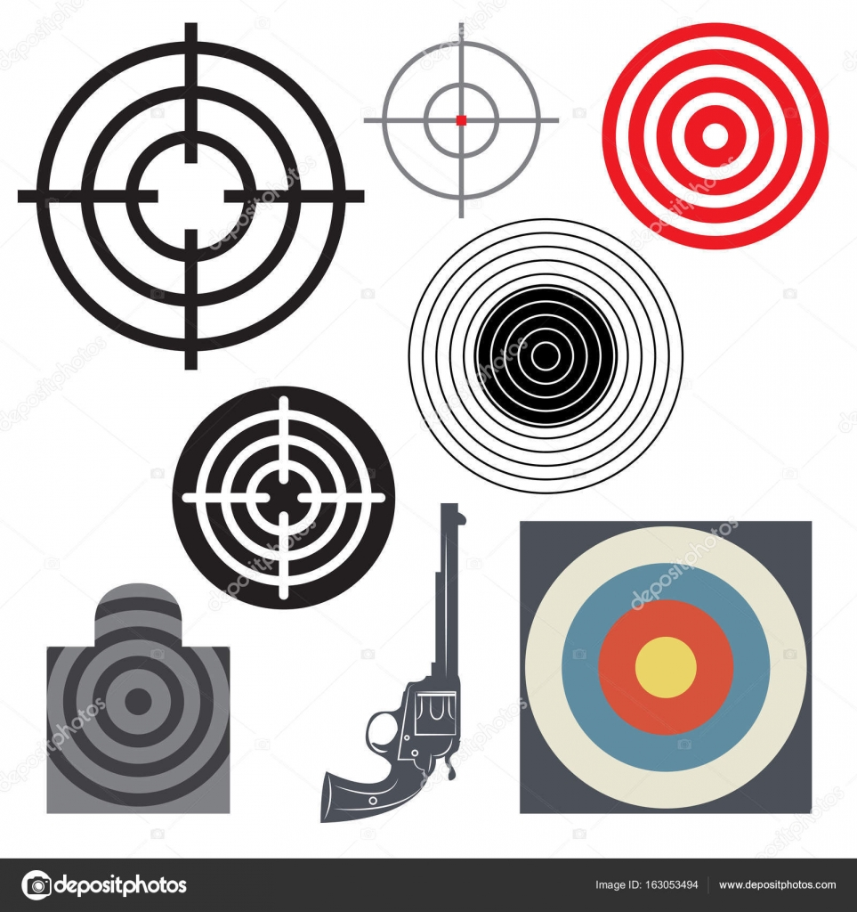 Target icon or symbol set stock vector fla 163053494 target icon or symbol set stock vector buycottarizona Image collections