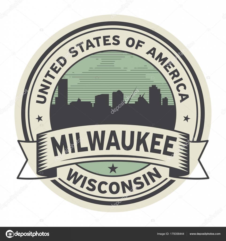 Stamp Or Label With Name Of Milwaukee Wisconsin Stock Vector