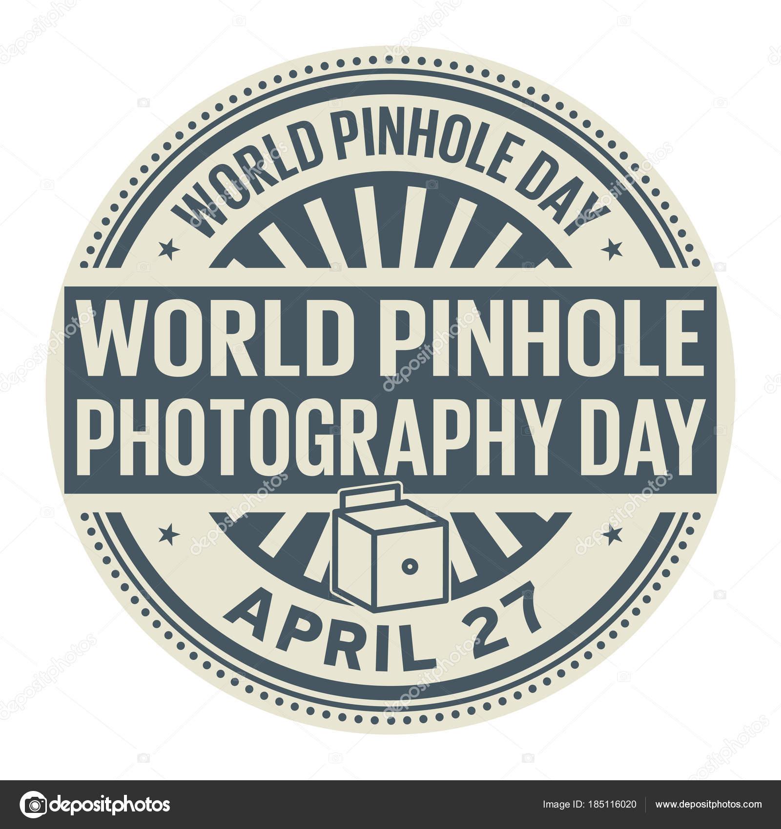 World Pinhole Photography Day Stock Vector