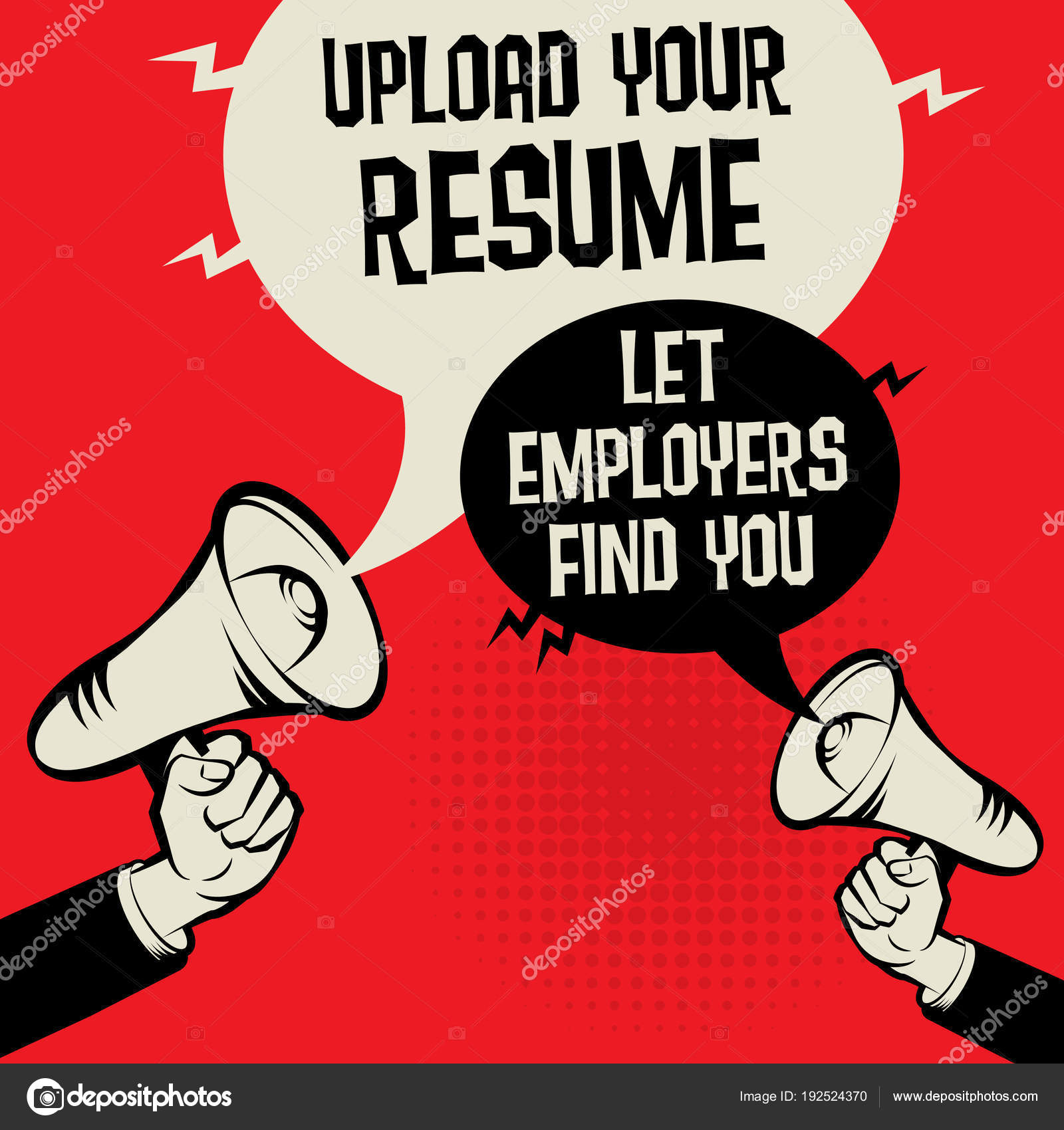 Upload Your Resume Let Employers Find You Stock Vector Fla