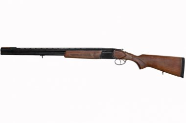 Classic double-barreled gun with vertical trunks