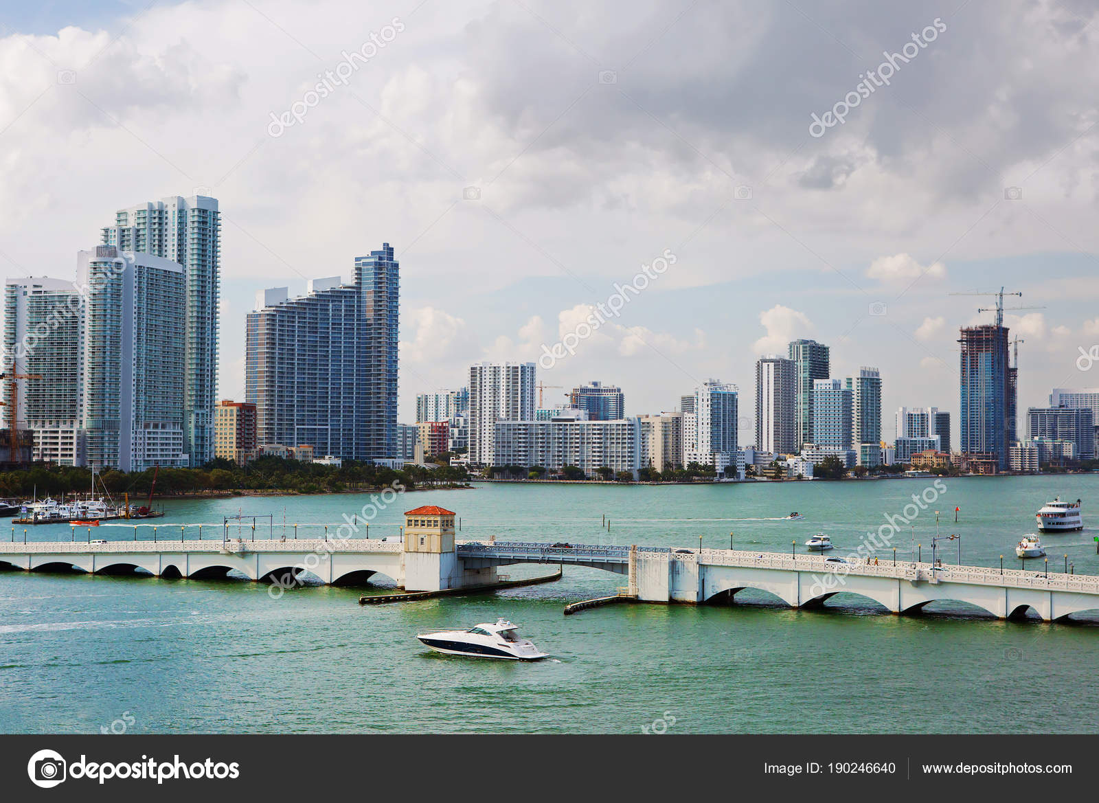 Miami Usa 2016 Miami Waterfront Embankment Visiting Card Miami Known
