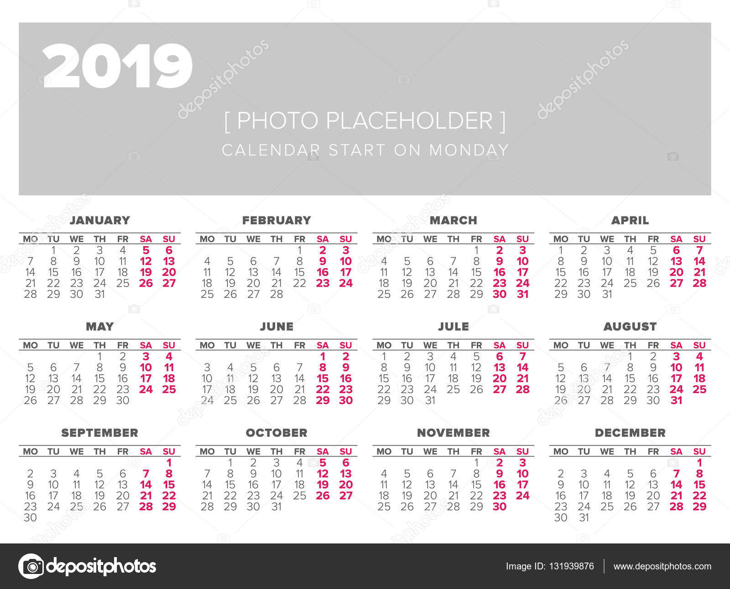 u65e5 u5386 2019  u5e74 u77e2 u91cf u8bbe u8ba1 u6a21 u677f  u56fe u5e93 u77e2 u91cf u56fe u50cf u00a9 123sasha 131939876 calendar vector 2019 calendar vector 2019