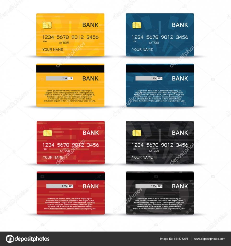 Kredit- oder debet Karten design set — Stockvektor © 123sasha #141576276