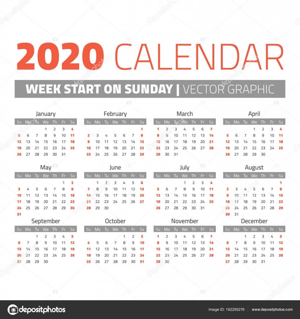 简单到 2020 年日历 图库矢量图像 169 123sasha 162255276