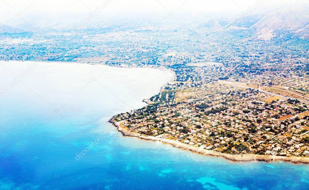 coastline of Palermo city