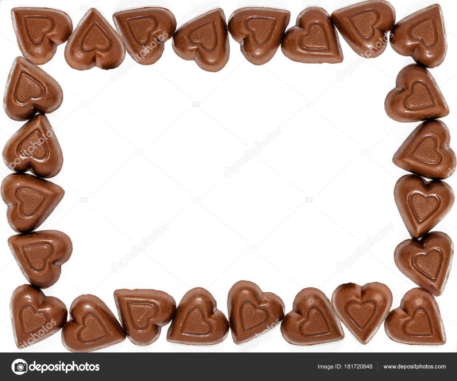 Corazón Chocolate Con Leche Con Forma Marco Dulces San Valentín ...