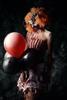 disgusting female clown