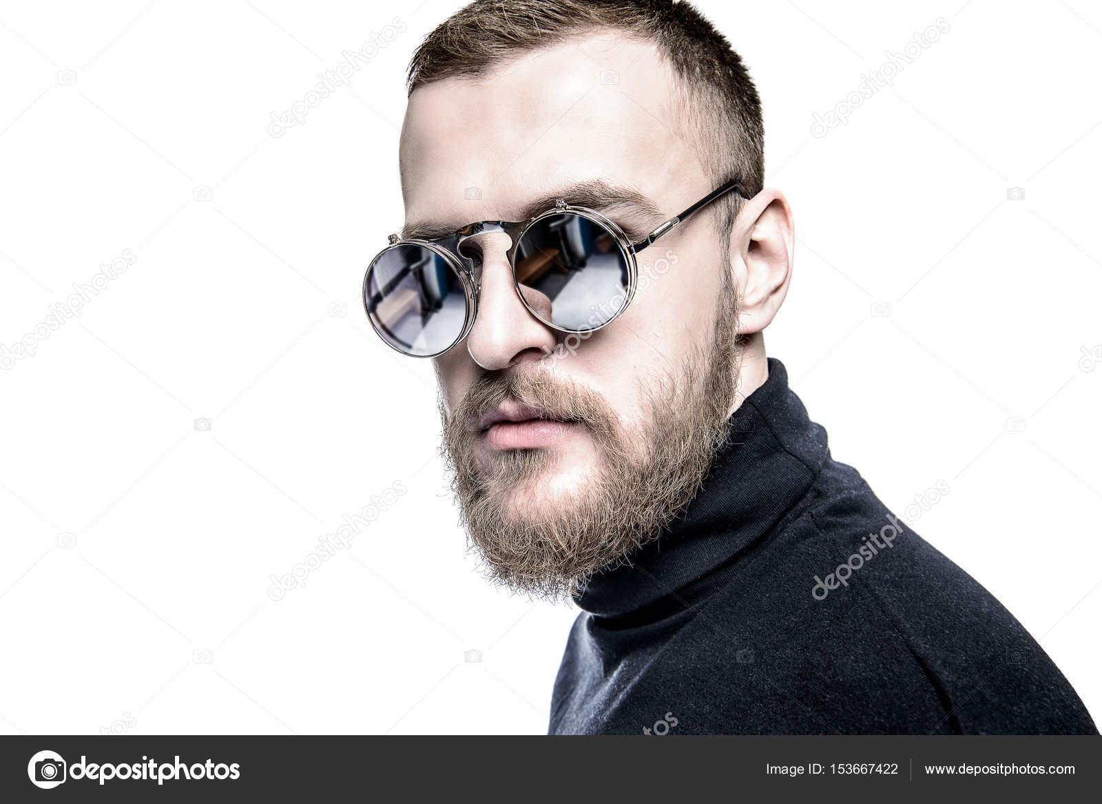 Uomo in occhiali da sole specchio foto stock prometeus 153667422 - Occhiali a specchio uomo ...