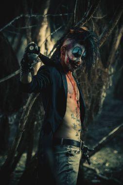 scary punk clown