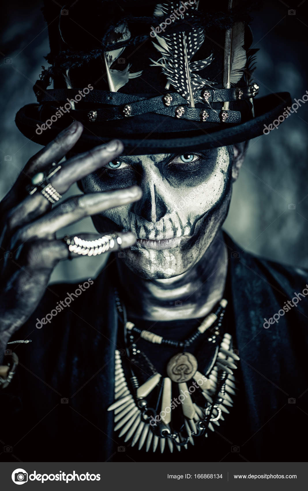 halloween scary makeup — stock photo © prometeus #166868134