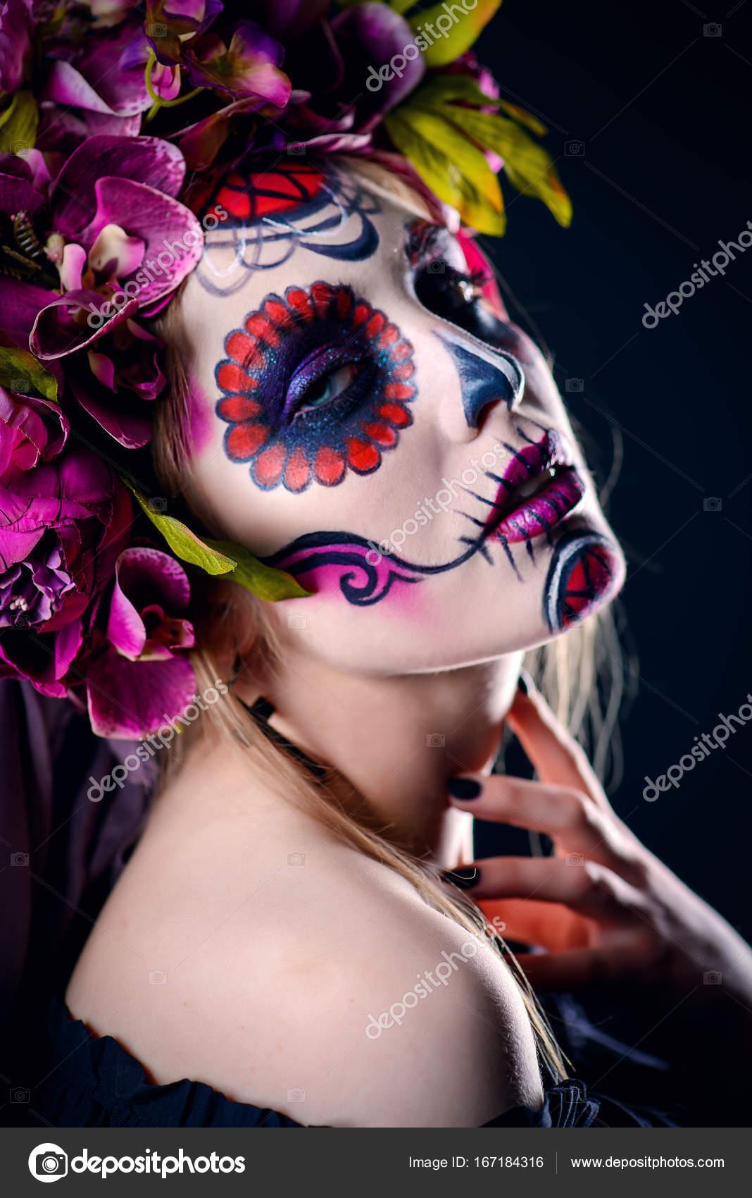 Fotos Catrinas Elegantes Maquillaje De Fiesta De Muertos Foto