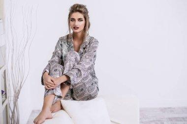 pretty woman in pajama