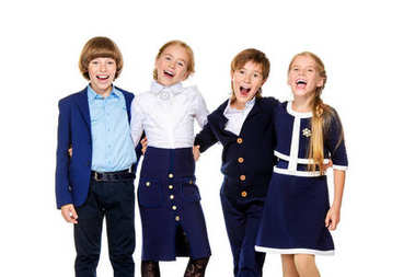 kids in school clothes