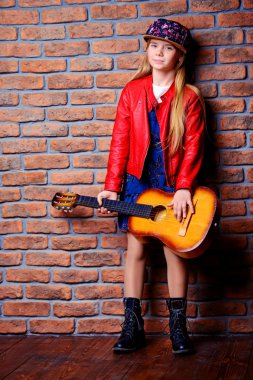cool girl with guitar