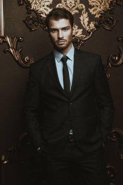 Imposing well dressed man