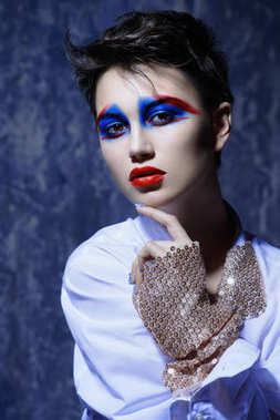 fashion and makeup concept