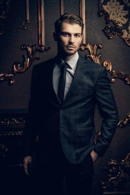 Imposing man in suit