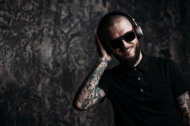 cool guy in headphones