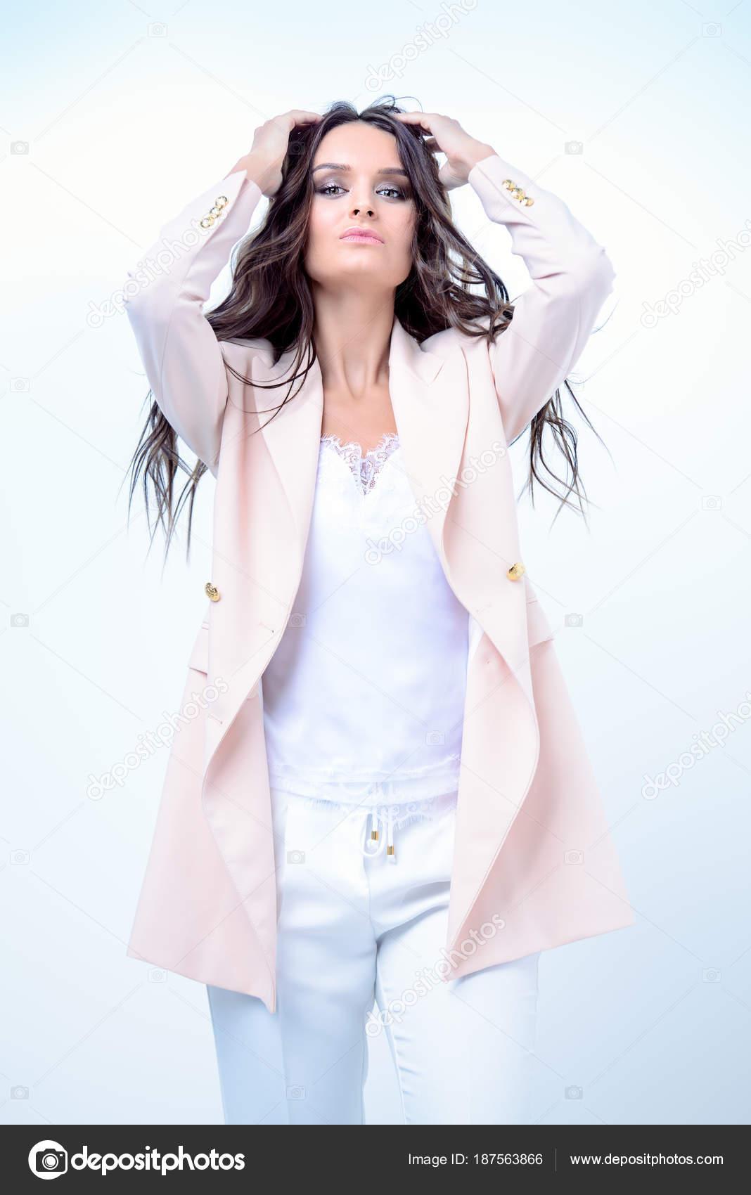 new concept 6c25f 85c86 elegante giacca rosa — Foto Stock © prometeus #187563866