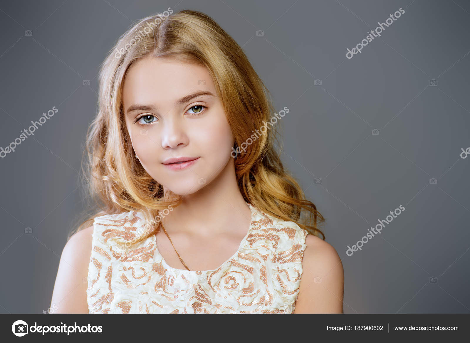 Nine Year Old Girl Stock Photo C Prometeus 187900602