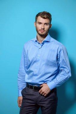 guy in blue shirt