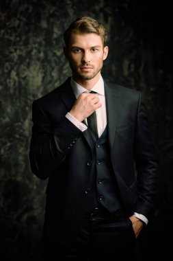 handsome man in suit
