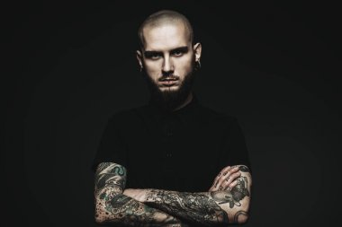 guy with tattooed hands