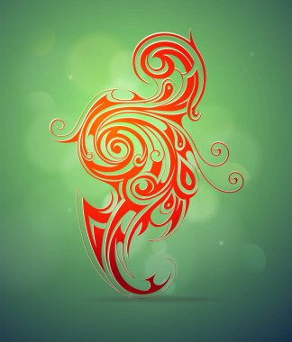 Ornamental swirls design