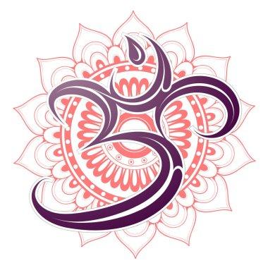 Om symbol with mandala