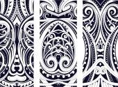 Set di ornamento di stile Maori