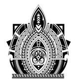 Manicotto del tatuaggio stile Maori