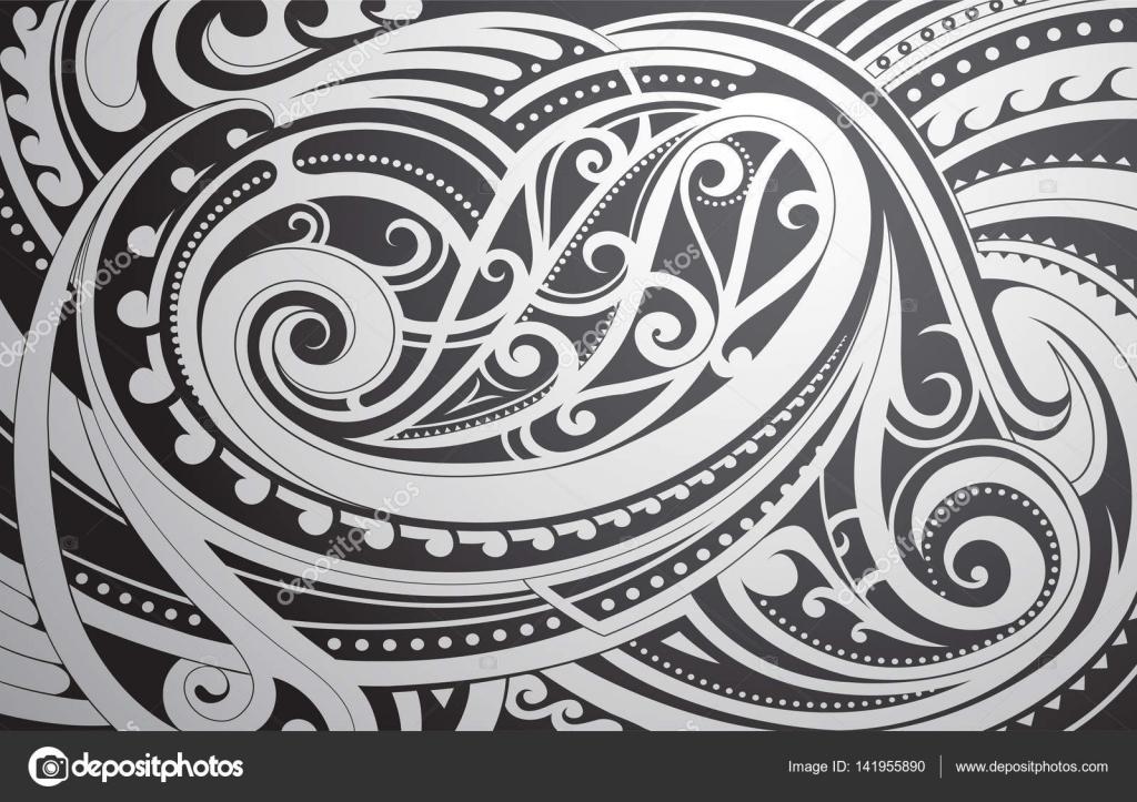Fondos De Maories Ornamento Del Estilo Maori Vector De Stock - Fotos-de-maories