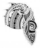 Modello di manica tatuaggio stile Maori