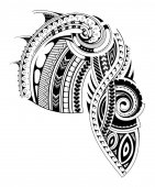 Maori stílus hüvely tetoválás sablon