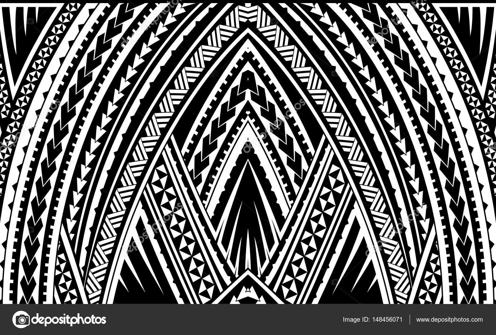 Samoa Tribal Ornament Stockvektor C Akv Lv 148456071