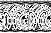 Ornamento tribale etnico senza giunte