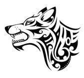 Wolf tetoválás alakzat