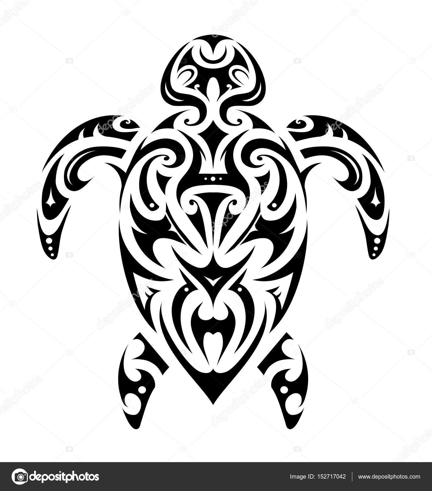 Maori Style Tortue Forme Image Vectorielle Akv Lv C 152717042
