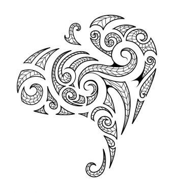 Maori style tribal art tattoo
