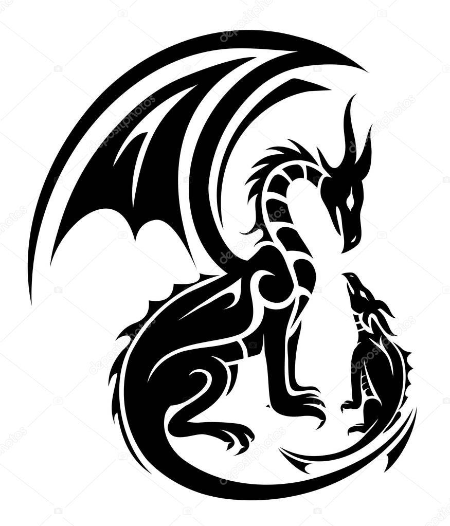 Fotos Dragones Tatuados Tatuaje De Dos Dragones