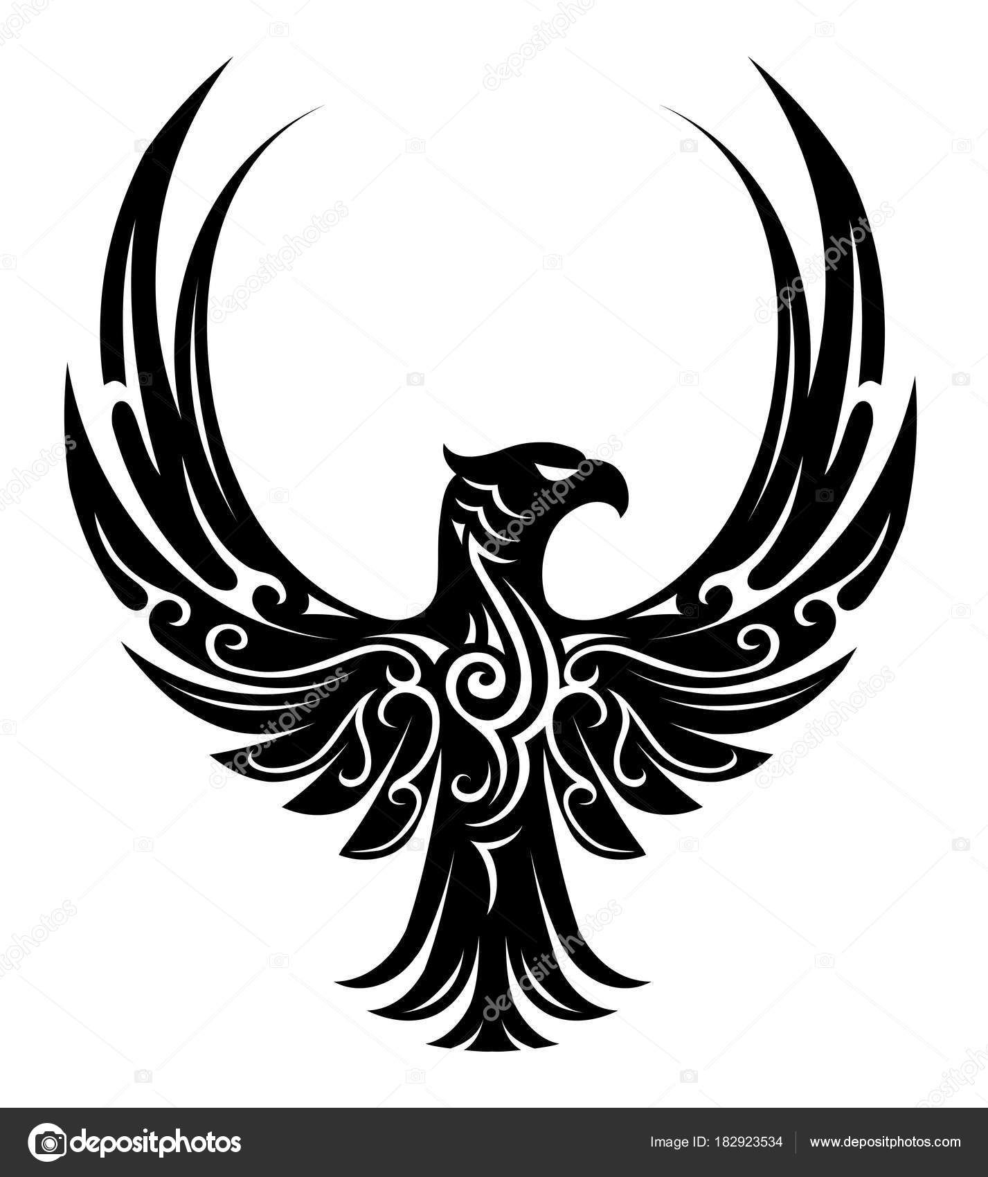 Tatuaje Aguila forma del tatuaje del águila — archivo imágenes vectoriales © akv_lv