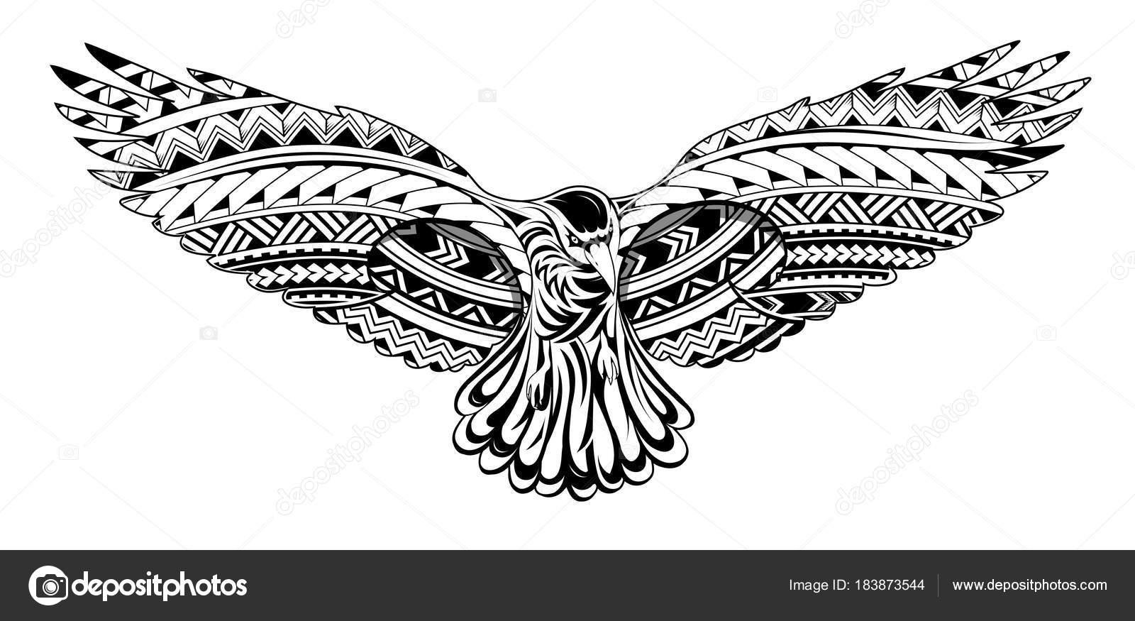 Dibujos Maories Para Colorear Tatuaje De Cuervo Con
