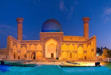 Night view of Gur Amir mausoleum, Samarkand