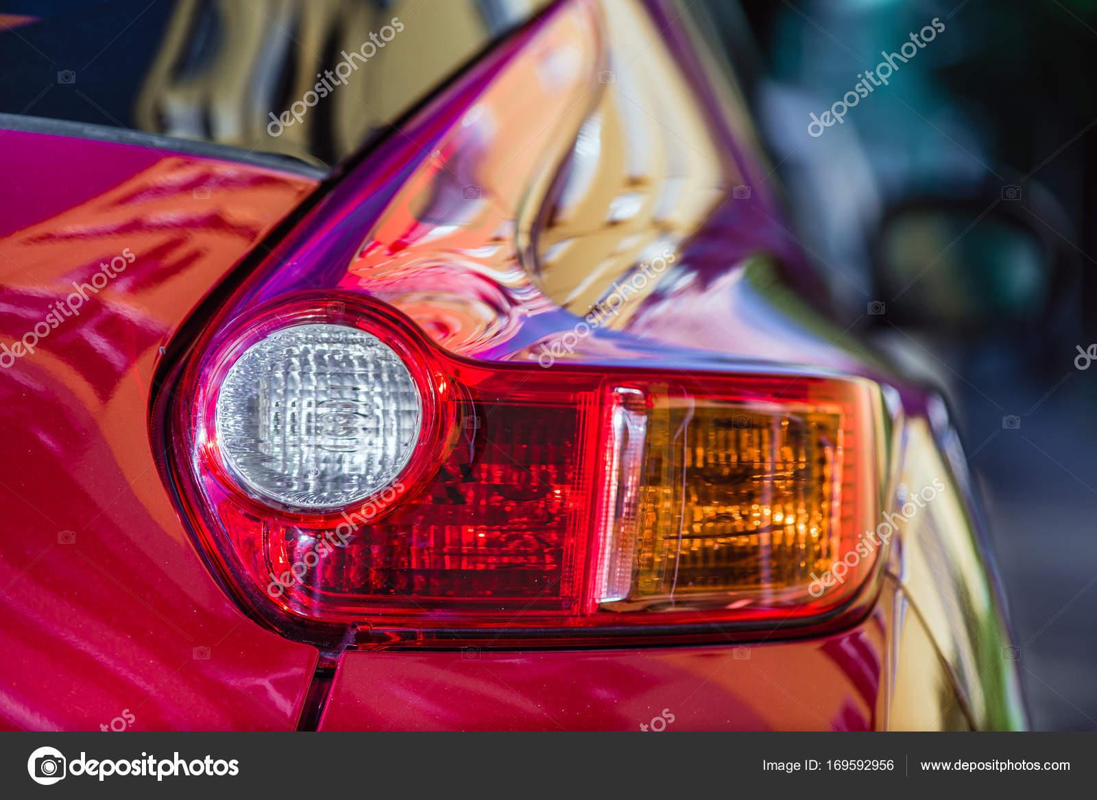 auto verlichting terug stockfoto