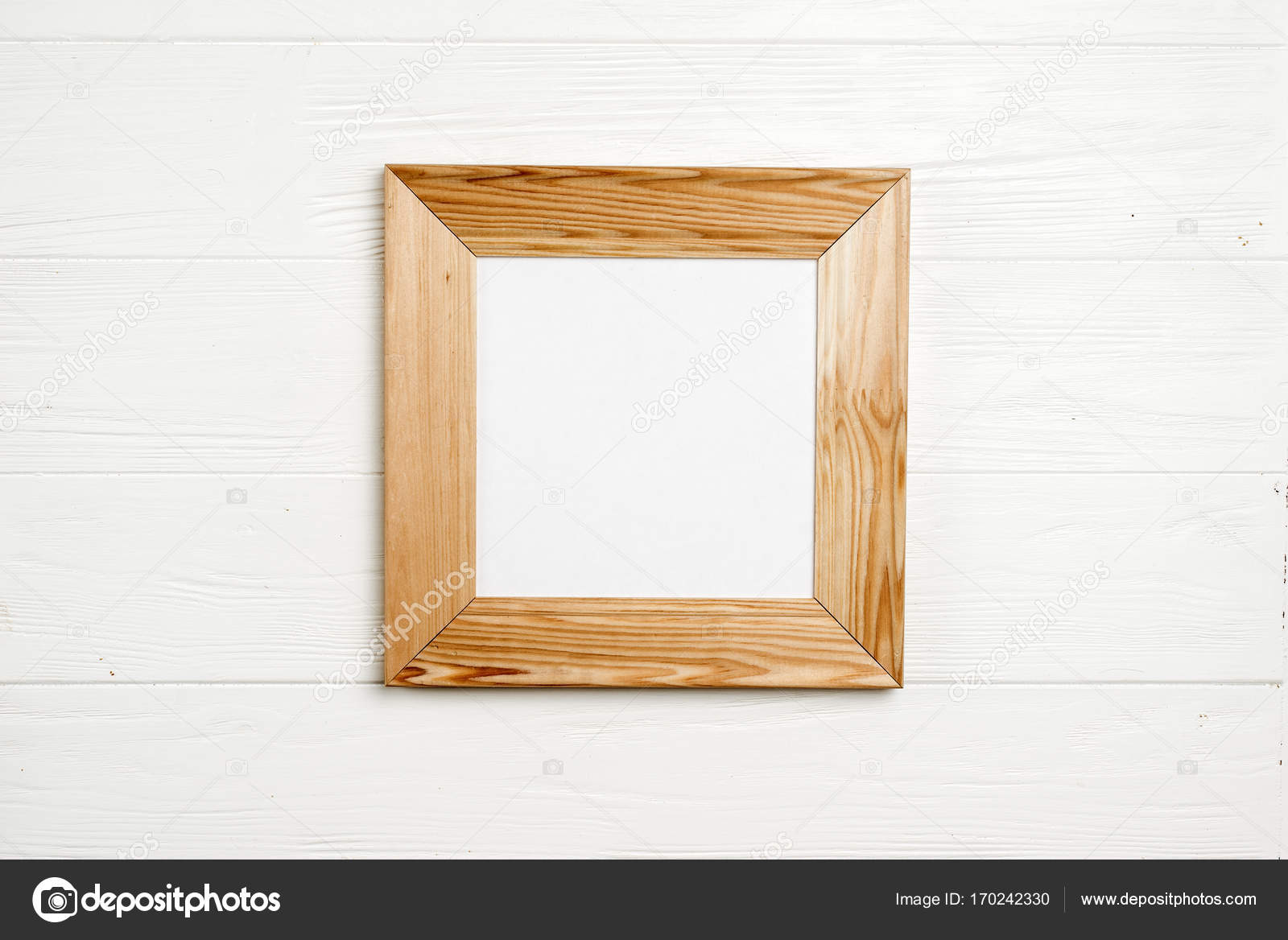 High resolution white wooden frame background — Stock Photo ...