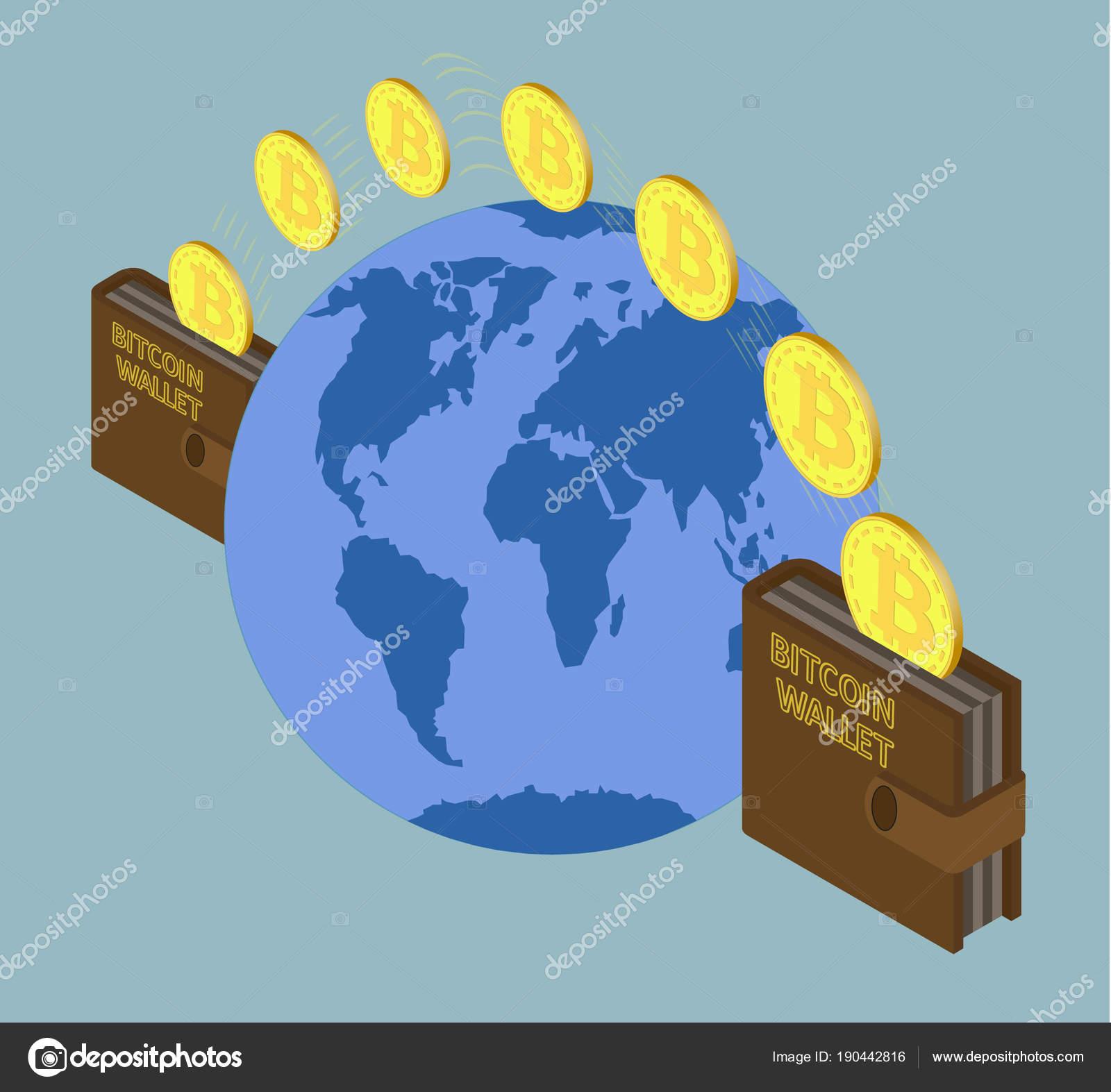 Bitcoin Münzen Aus Der Brieftasche In Eine Andere Mappe Zu
