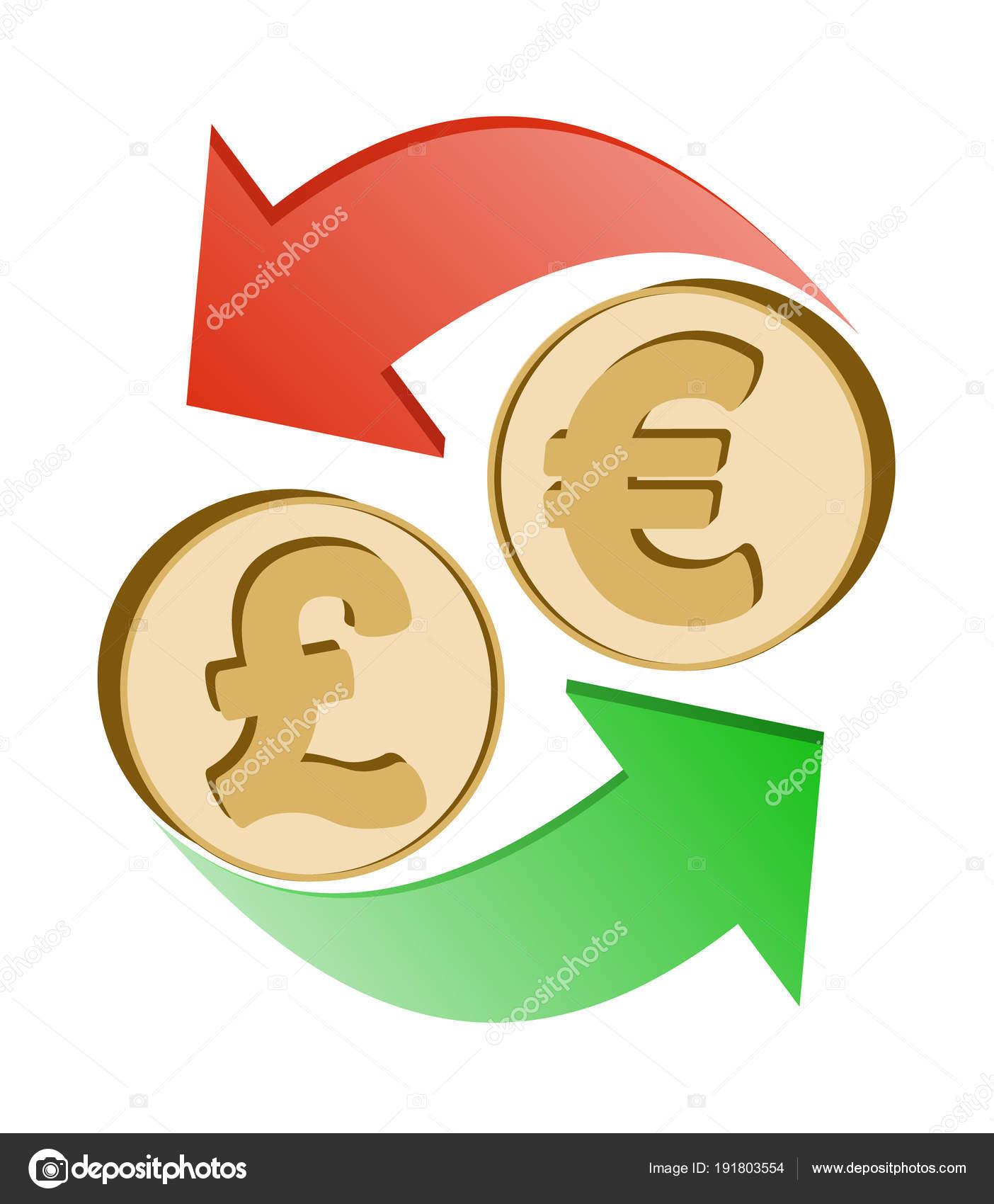 Livre Sterling Change Pour L Euro Image Vectorielle