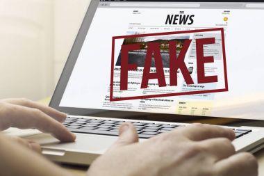 fake news on a computer