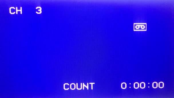 a blue screen tv